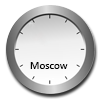 Dial clock Moscow