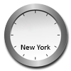Dial clock New York